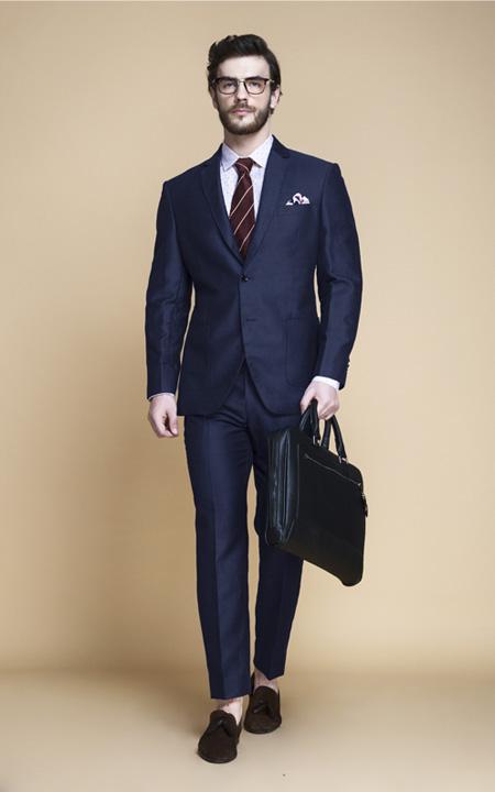 Harbor Blue Linen Suit