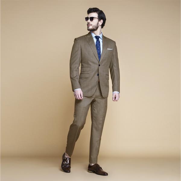 Nalton Brown Nailhead Suit-mbview-1