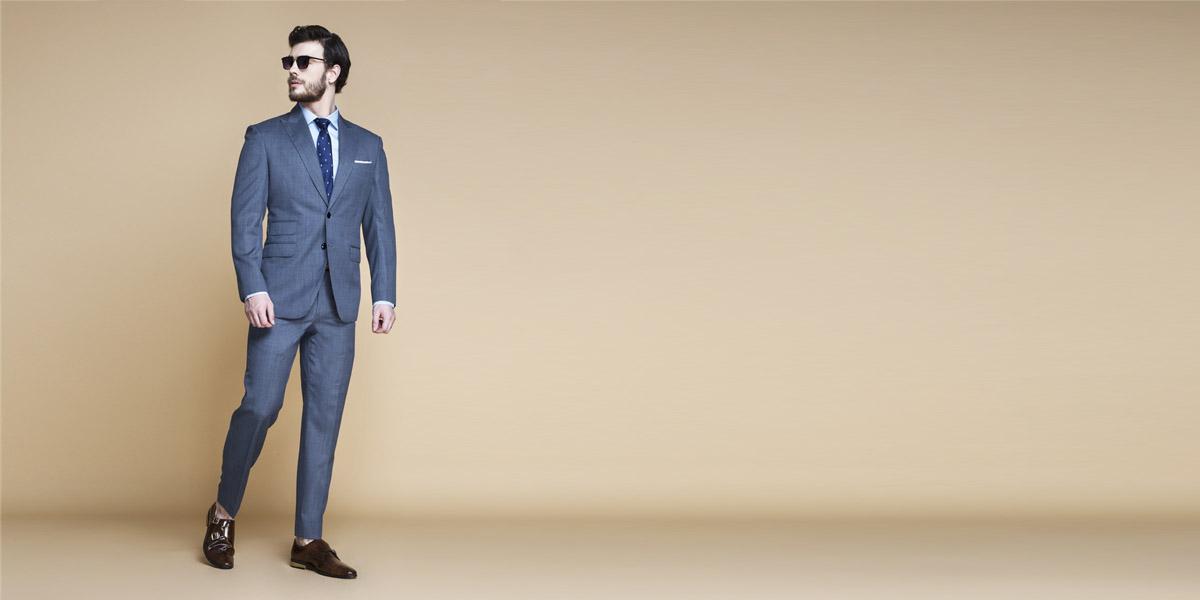 Gibson Bluish Grey Nailhead Suit- view-1