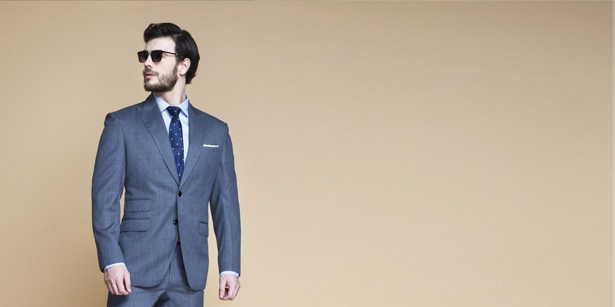 Gibson Bluish Grey Nailhead Suit- view-3