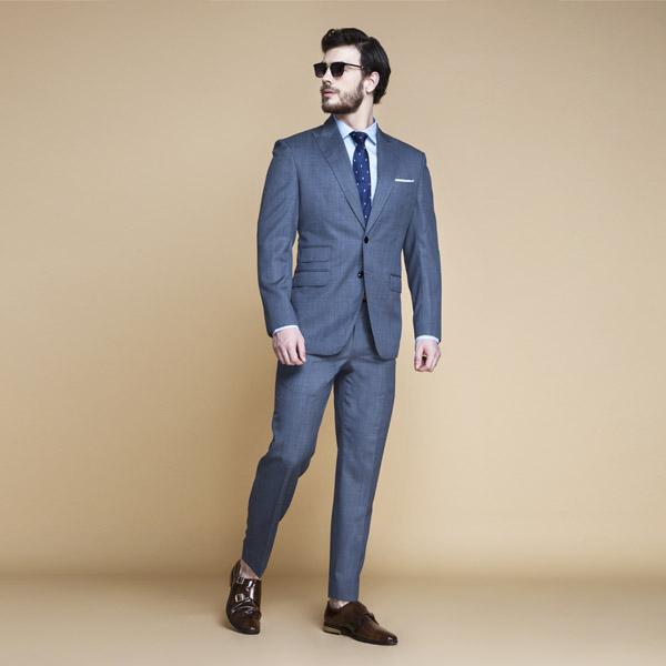 Gibson Bluish Grey Nailhead Suit-mbview-1
