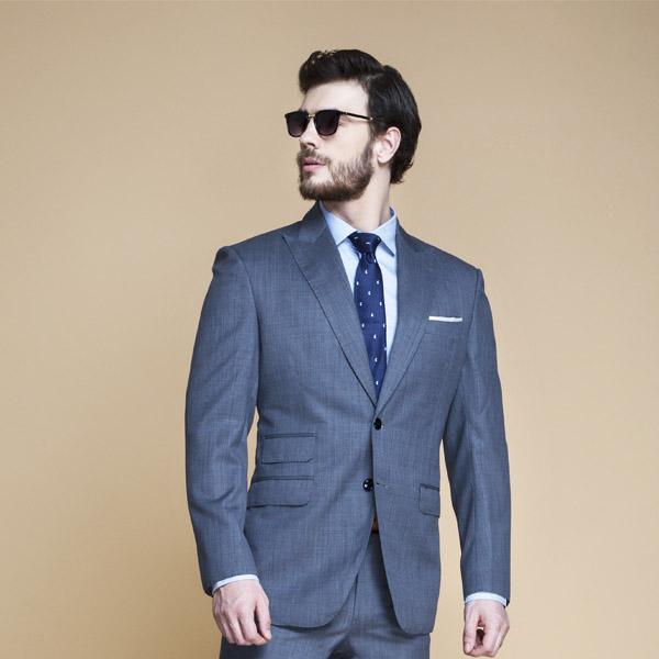 Gibson Bluish Grey Nailhead Suit-mbview-3