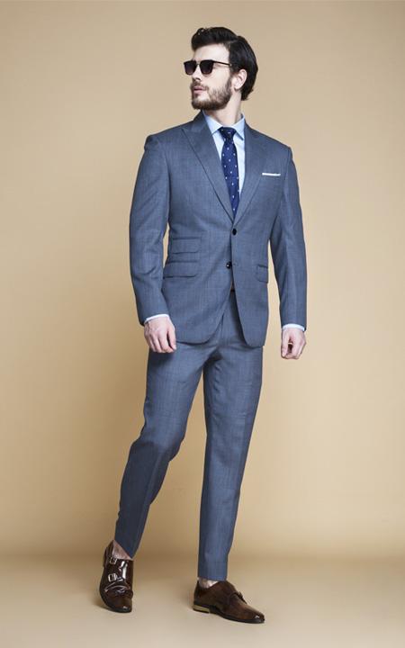 Gibson Bluish Grey Nailhead Suit
