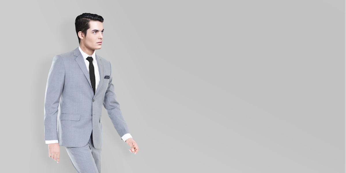 Nordon Grey Sharkskin Suit- view-2