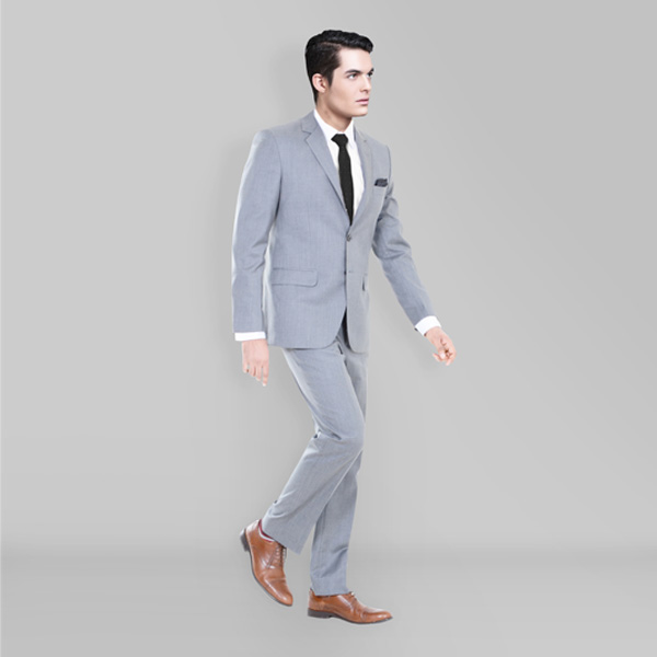 Nordon Grey Sharkskin Suit-mbview-1