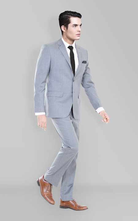 Nordon Grey Sharkskin Suit