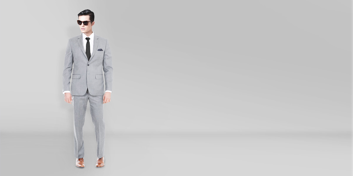 Light Grey Hyde Sharkskin Suit- view-1