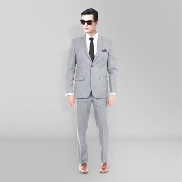 Light Grey Hyde Sharkskin Suit-mbview-1