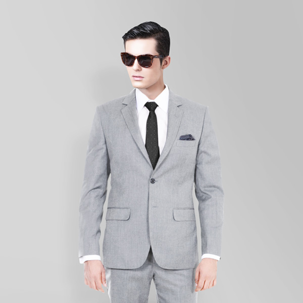 Light Grey Hyde Sharkskin Suit-mbview-2