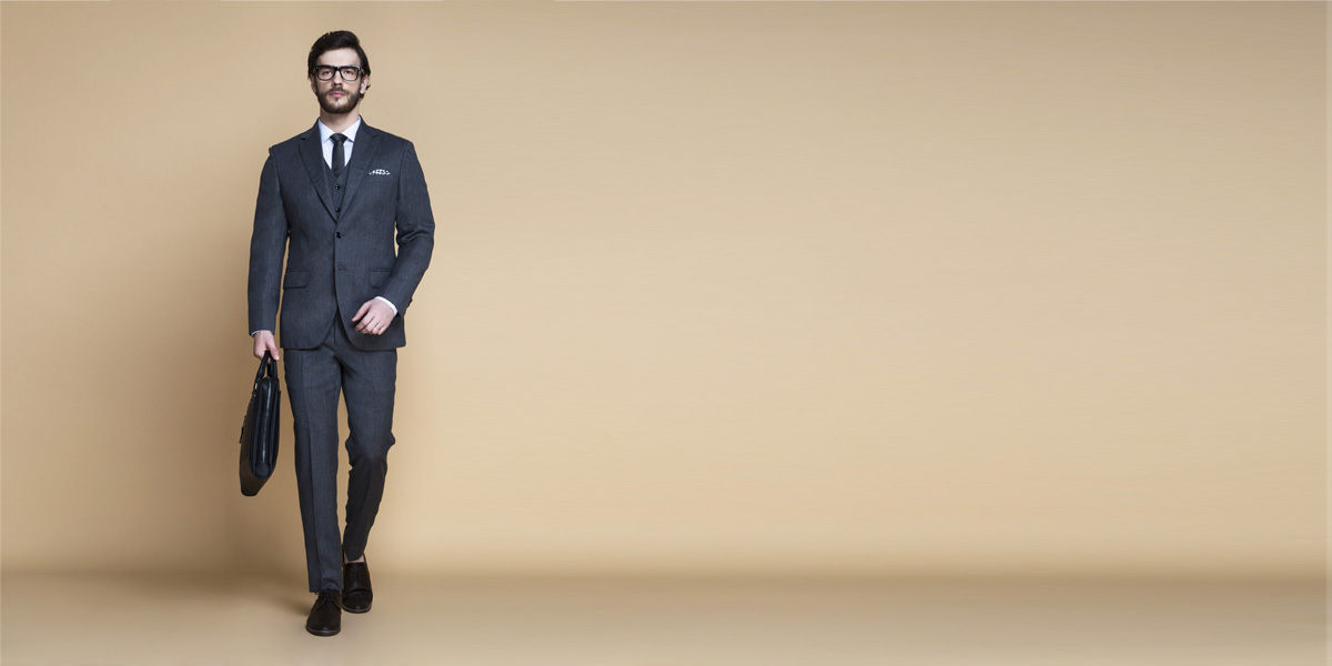 Windsor Grey Flannel Suit- view-1