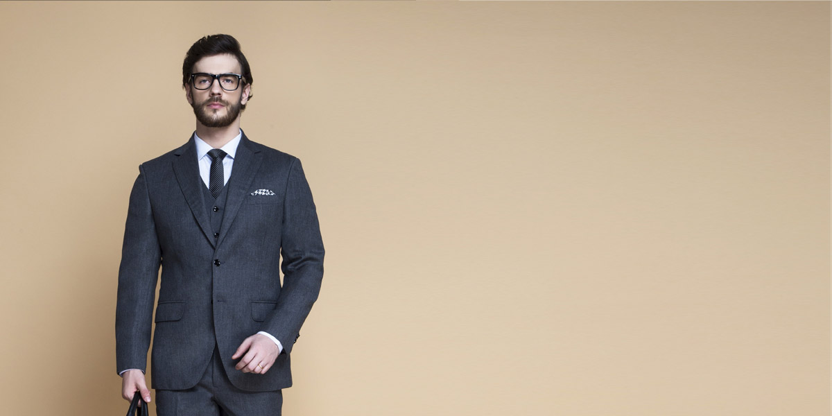 Windsor Grey Flannel Suit- view-3