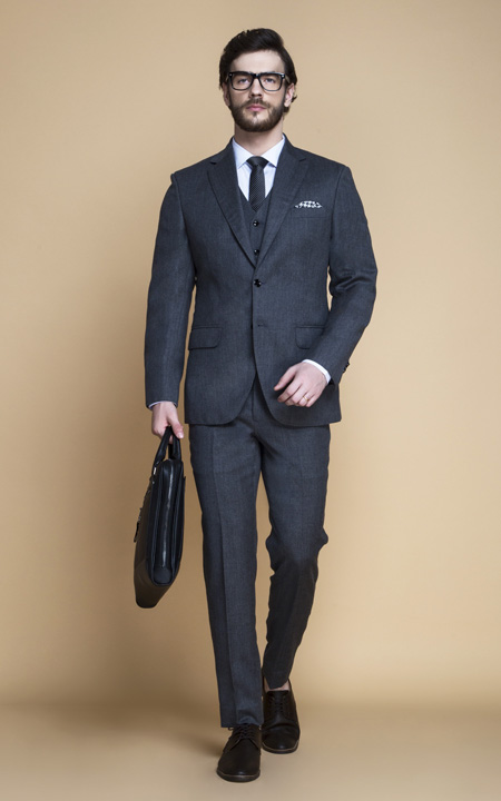 Windsor Grey Flannel Suit