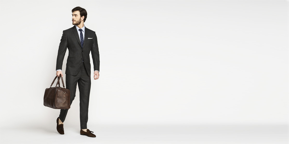 Milano Charcoal Grey Checks Suit- view-1