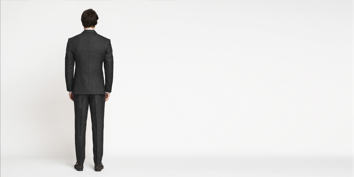 Milano Charcoal Grey Checks Suit- view-2