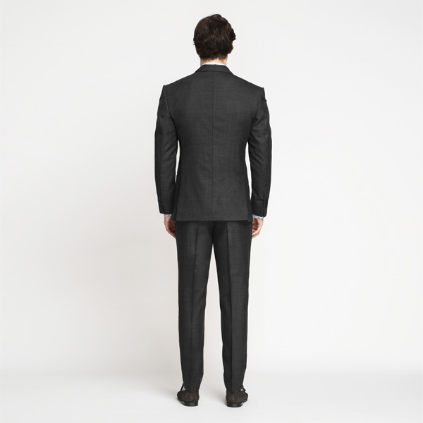 Milano Charcoal Grey Checks Suit-mbview-2