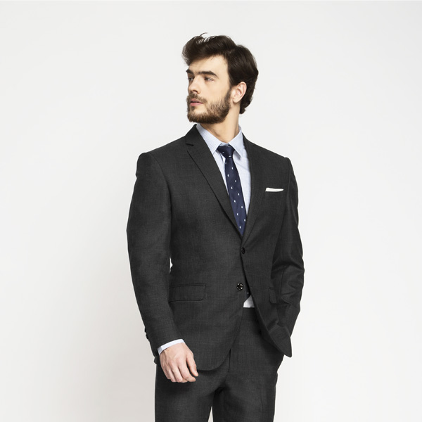 Milano Charcoal Grey Checks Suit-mbview-4