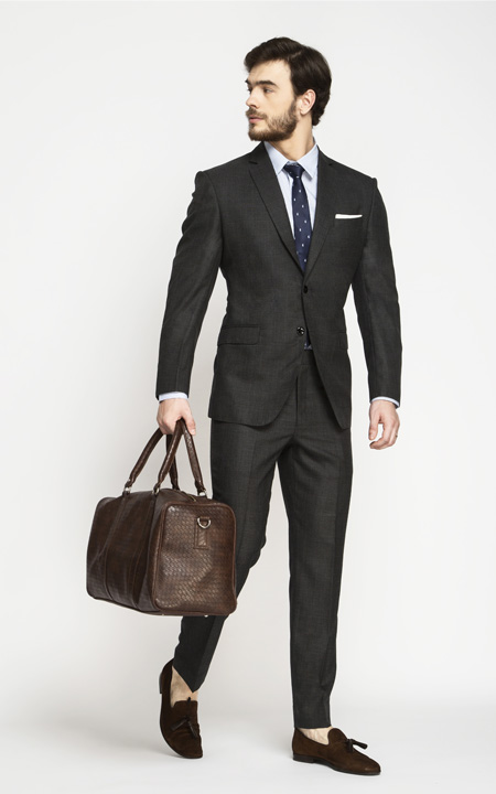 Milano Charcoal Grey Checks Suit