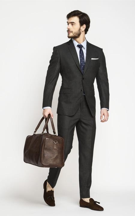 Milano Charcoal Grey Checks Suit