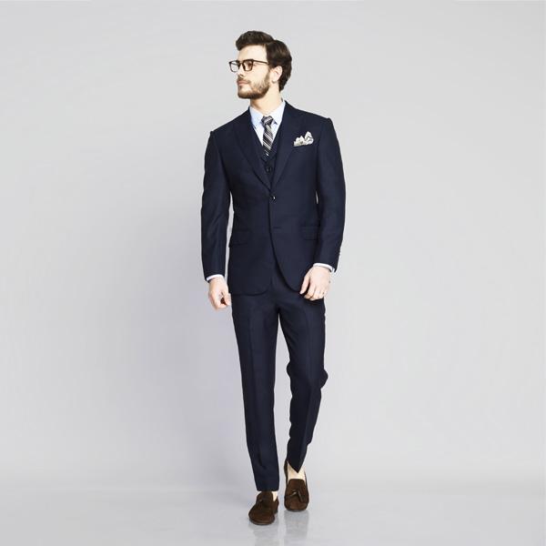 Hayes Navy Birdseye Suit-mbview-1