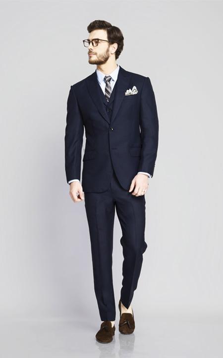 Hayes Navy Birdseye Suit