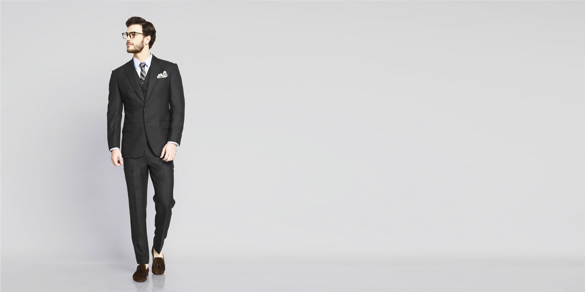 Tribeca Charcoal Birdseye Suit- view-1