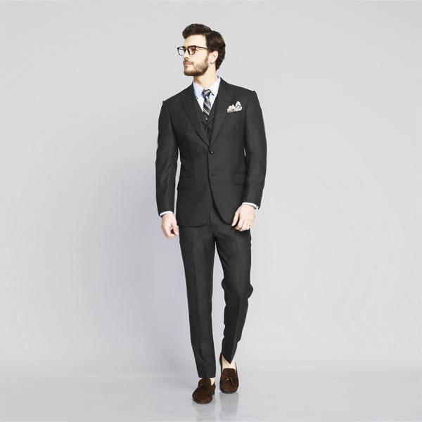 Tribeca Charcoal Birdseye Suit-mbview-1