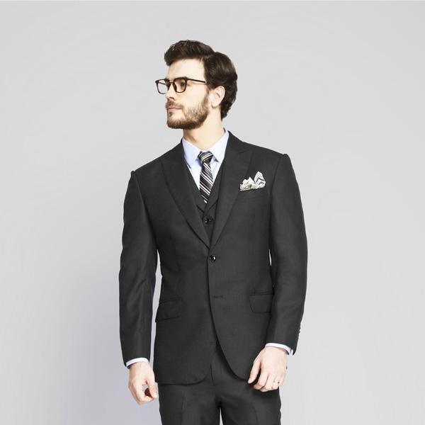 Tribeca Charcoal Birdseye Suit-mbview-3