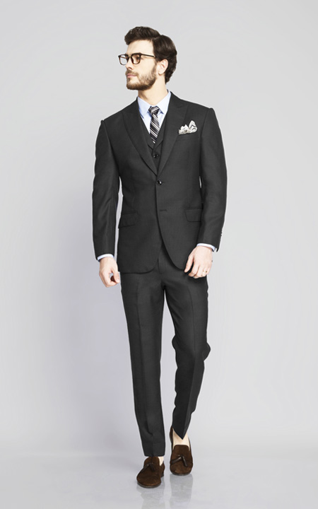 Tribeca Charcoal Birdseye Suit
