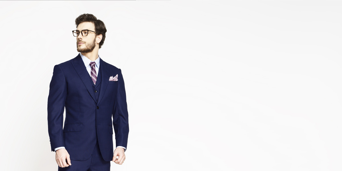 Lincoln Square Blue Birdseye Suit- view-3