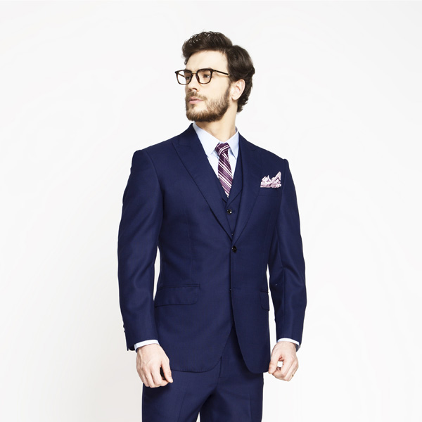 Lincoln Square Blue Birdseye Suit-mbview-3