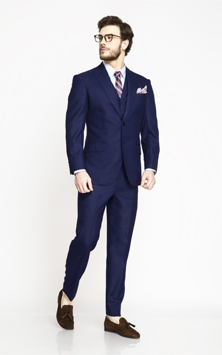 Lincoln Square Blue Birdseye Suit