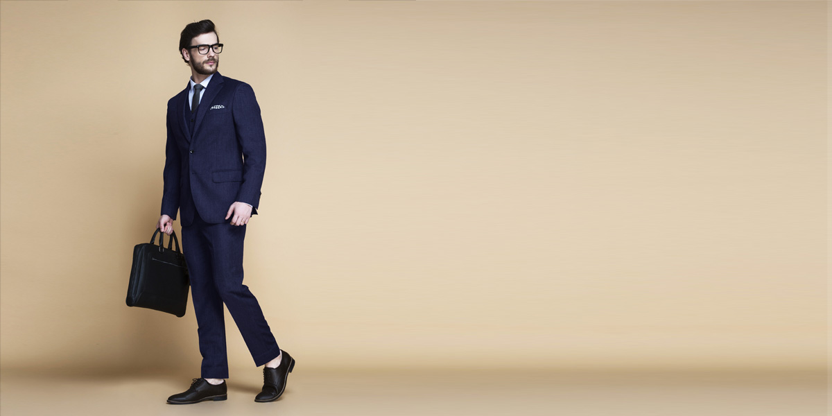 Piccadilly Midnight Blue Flannel Suit- view-1