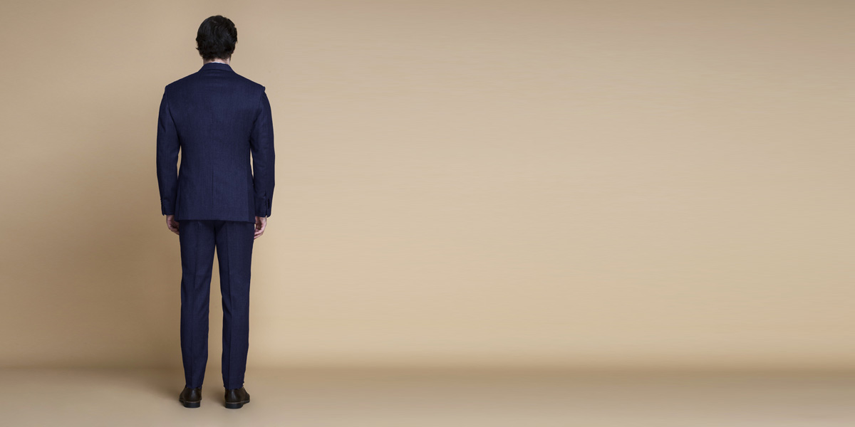 Piccadilly Midnight Blue Flannel Suit- view-2