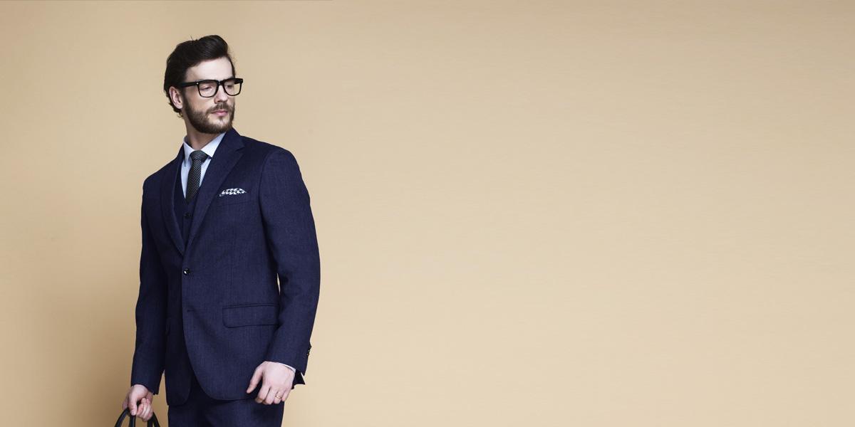 Piccadilly Midnight Blue Flannel Suit- view-3