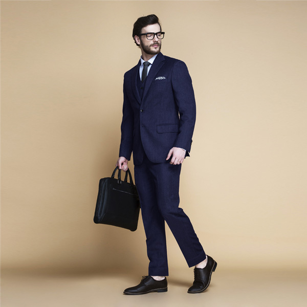 Piccadilly Midnight Blue Flannel Suit-mbview-main