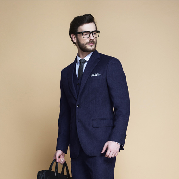 Piccadilly Midnight Blue Flannel Suit-mbview-3