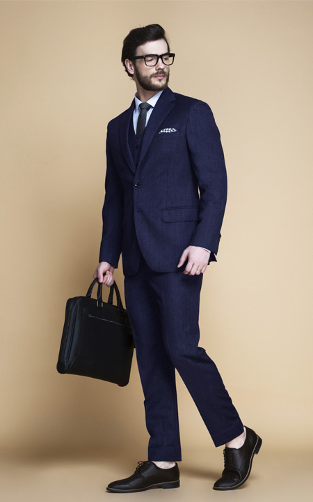 Piccadilly Midnight Blue Flannel Suit