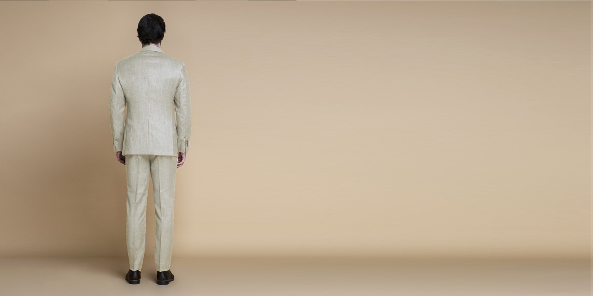 Hampstead Khaki Ecru Flannel Suit- view-2