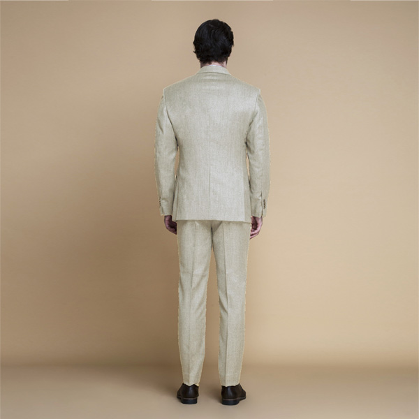 Hampstead Khaki Ecru Flannel Suit-mbview-2