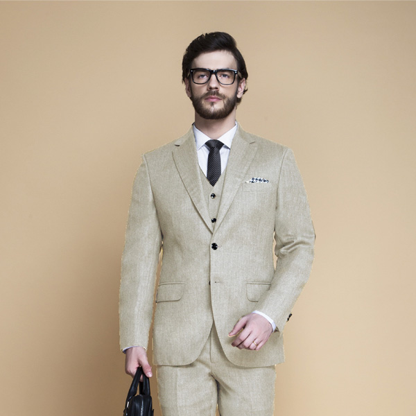 Hampstead Khaki Ecru Flannel Suit-mbview-3