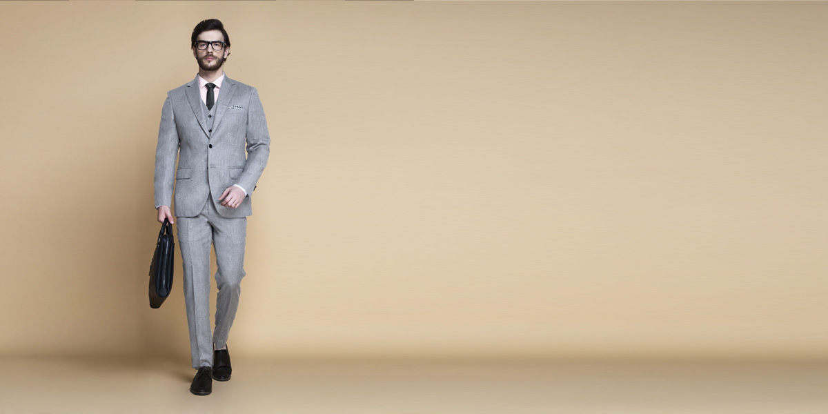 Highgate Light Grey Flannel Suit- view-1