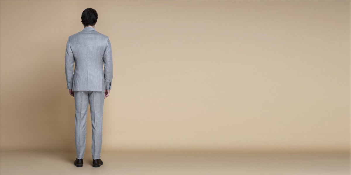 Highgate Light Grey Flannel Suit- view-2