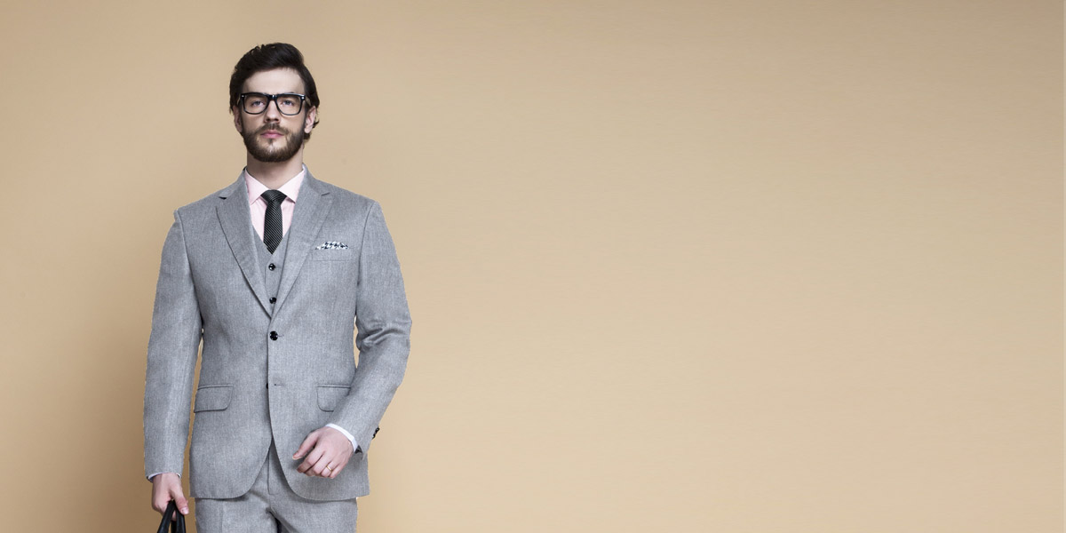 Highgate Light Grey Flannel Suit- view-3