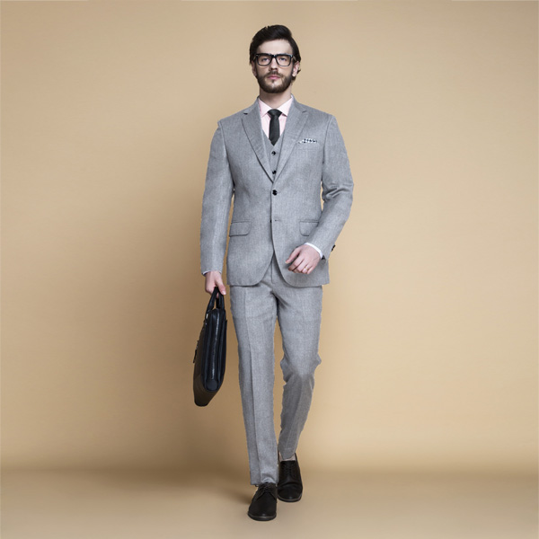 Highgate Light Grey Flannel Suit-mbview-1