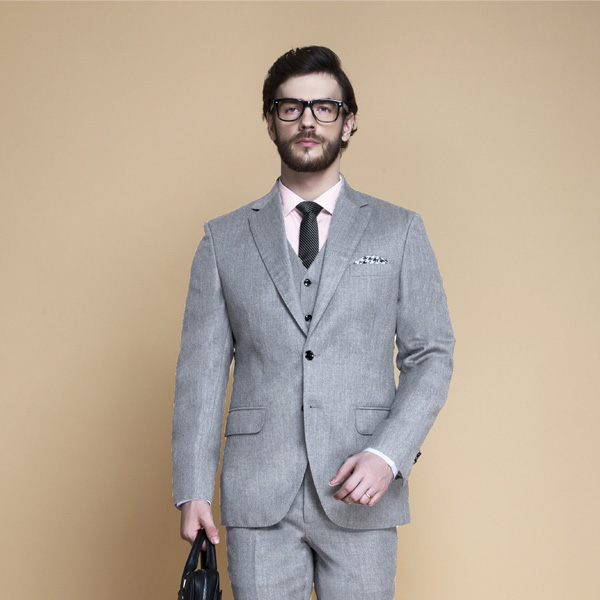 Highgate Light Grey Flannel Suit-mbview-3