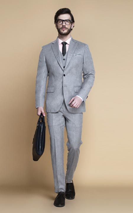 Highgate Light Grey Flannel Suit