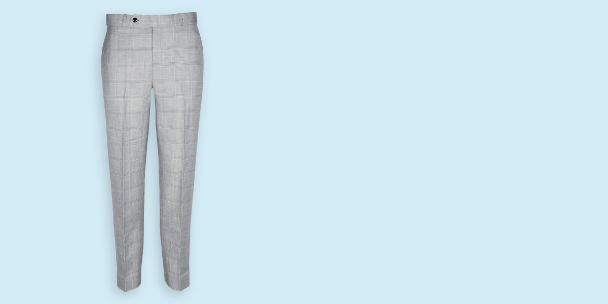 Oxford Linen Checks Custom Pants- view-1