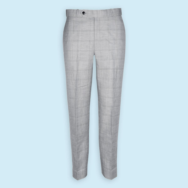 Oxford Linen Checks Custom Pants-mbview-1