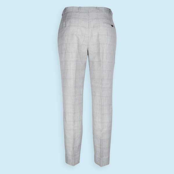 Oxford Linen Checks Custom Pants-mbview-2