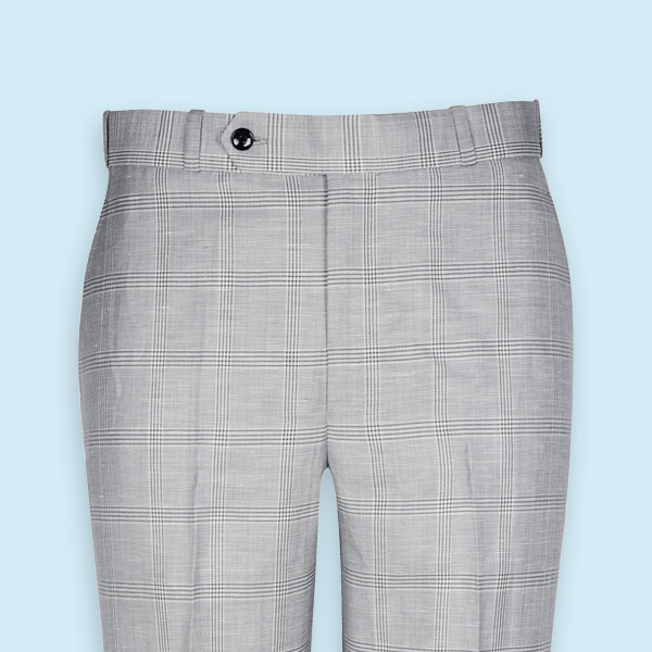 Oxford Linen Checks Custom Pants-mbview-3